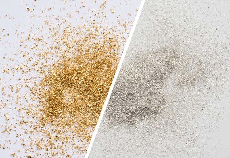 Gold- und Silberflocken