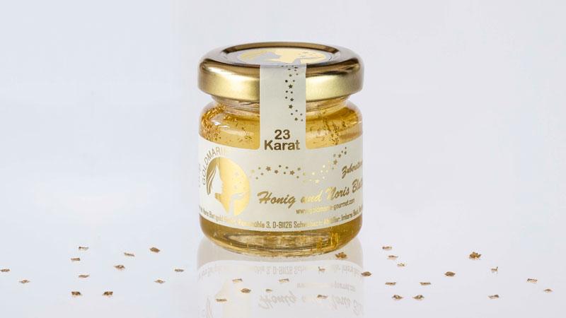 Honig mit 23 Karat Blattgold